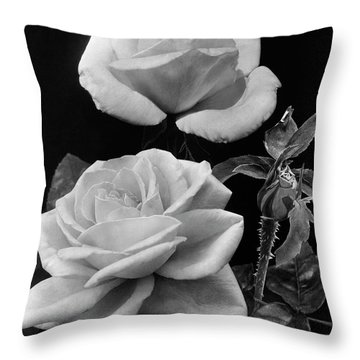 'george Arends' Roses Throw Pillow