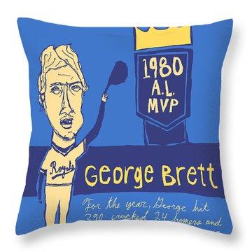 George Brett Kc Royals Throw Pillow by Jay Perkins