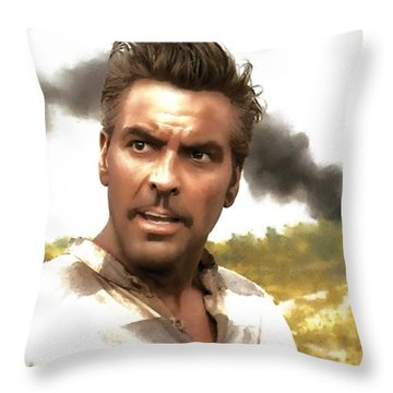 George Clooney In The Film O Brother Where Art Thou Throw Pillow
