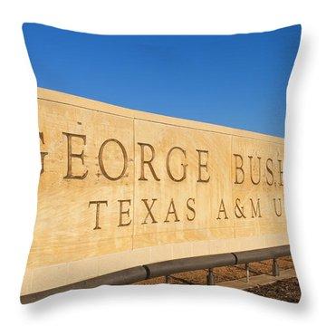 George H. Bush Library, Texas Throw Pillow