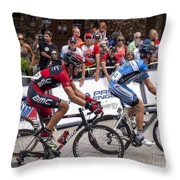 George Hincapie Throw Pillow
