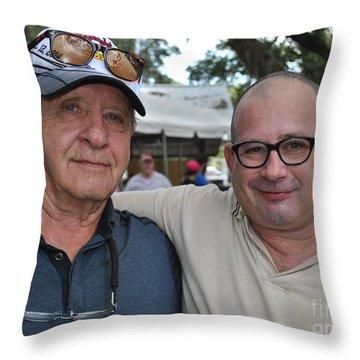 George II With George IIi Throw Pillow