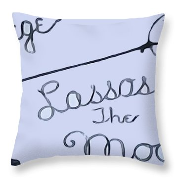 George Lassos The Moon Throw Pillow