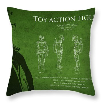 George Lucas Patent 1979 Throw Pillow by Aged Pixel