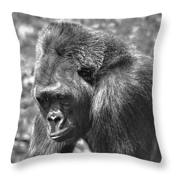 George Of The Jungle Throw Pillow
