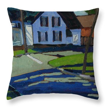 George Street Throw Pillow by Phil Chadwick