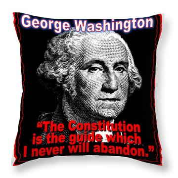 George Washington And The Constitution Throw Pillow