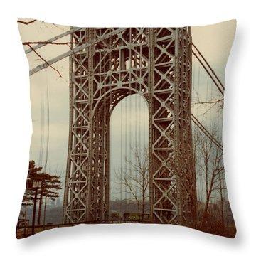 George Washington Bridge Throw Pillow by Nancie Johnson