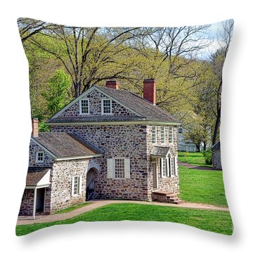 George Washington Headquarters At Valley Forge Throw Pillow