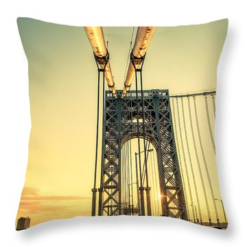 George Washington Sunset Throw Pillow