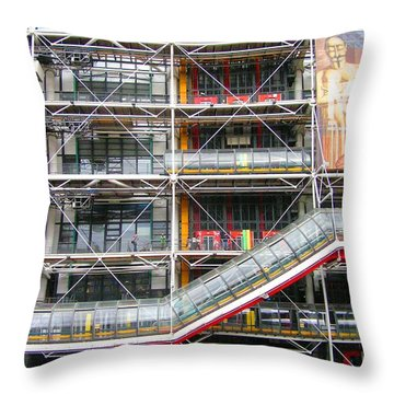 Georges Pompidou Centre Throw Pillow