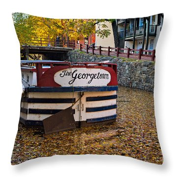Georgetown Barge Throw Pillow