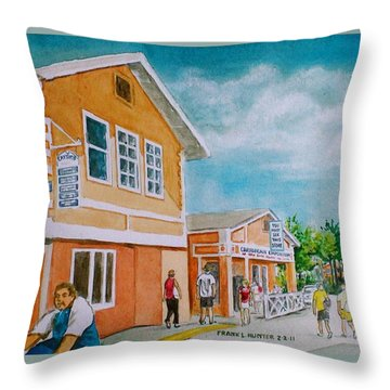 Georgetown Grand Cayman Throw Pillow by Frank Hunter
