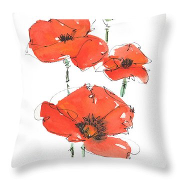 Georgetown Texas The Red Poppy Capital Throw Pillow by Kathleen McElwaine