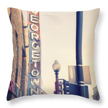 Georgetown U. S. A. Throw Pillow by Nicola Nobile
