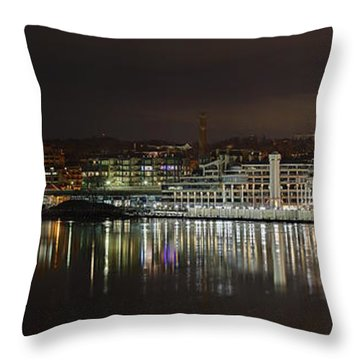 Georgetown Waterfront Throw Pillow