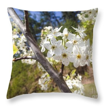 Georgia Blossoms Throw Pillow