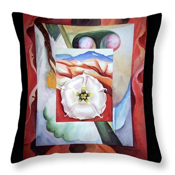 Georgia On My Mind IIi Throw Pillow by Irina Sztukowski