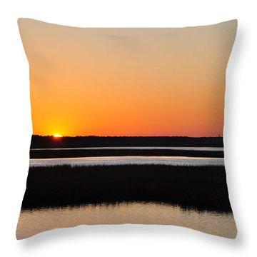 Georgia Sunset Throw Pillow