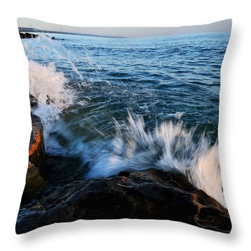 Georgian Bay Shore Surf Throw Pillow