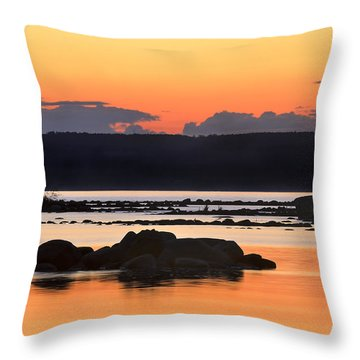 Georgian Bay Sunset-1 Throw Pillow