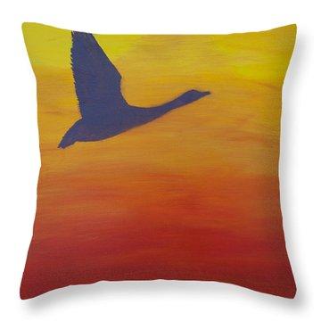 Georgian Bay Sunset Throw Pillow by Alex Banman