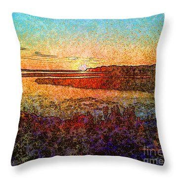 Georgian Bay Sunset Throw Pillow