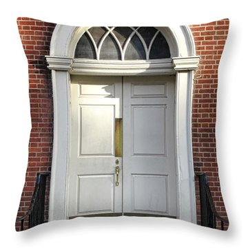 Georgian Door Throw Pillow by Olivier Le Queinec