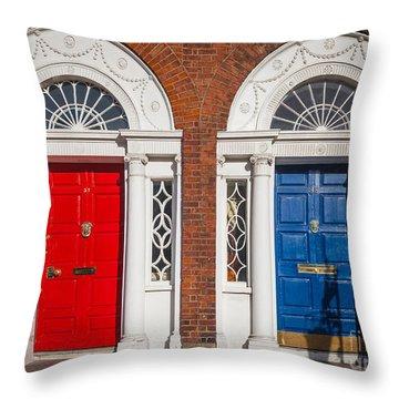 Georgian Doors Throw Pillow by Inge Johnsson