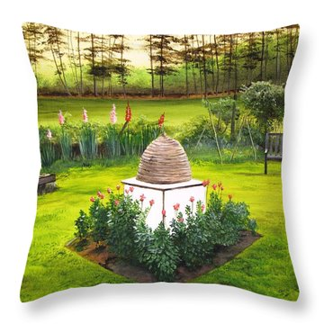 Georgian Herb Garden Throw Pillow by Kevin F Heuman