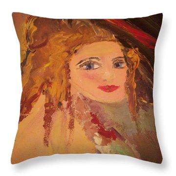 Georgiana Throw Pillow by Judith Desrosiers