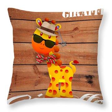 Georgie Giraffe Collection Throw Pillow