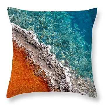 Geothermic Layers Throw Pillow by Todd Klassy