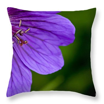 Geranium Blues Throw Pillow