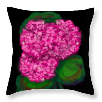 Throw Pillow featuring the digital art Geranium by Christine Fournier