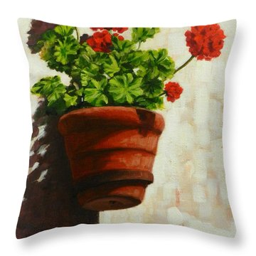 Geranium Delight Throw Pillow