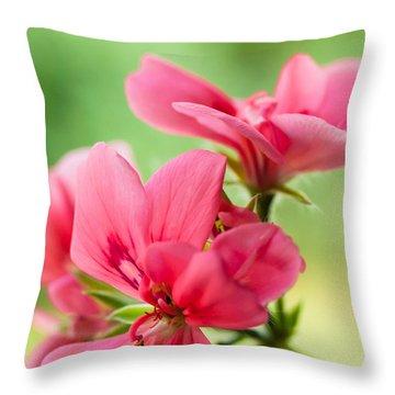 Geranium Gift Throw Pillow
