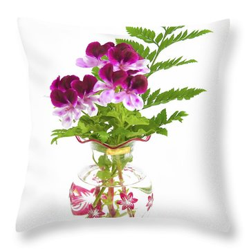 Geranium 'witchwood' Throw Pillow