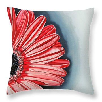 Gerber Daisy 2 Throw Pillow by Kevin F Heuman