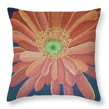 Gerbera Throw Pillow by Megan Washington