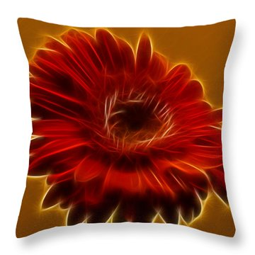 Gerbia Daisy Throw Pillow