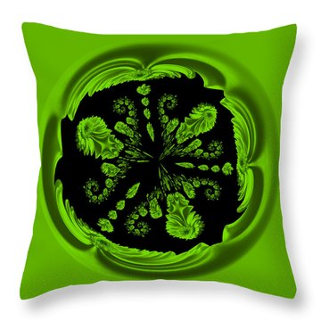 Gerbia Daisy Digitized Orb Throw Pillow