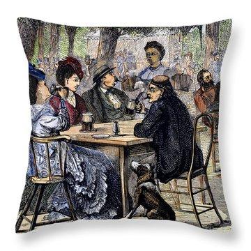 German Beer Garden, 1870 Throw Pillow by Granger