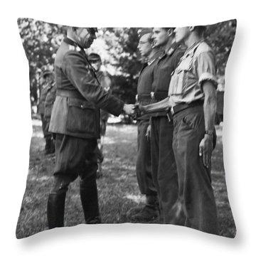German General And His Men Throw Pillow