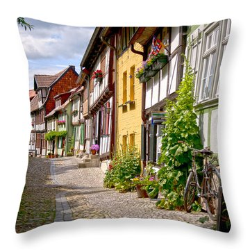 German Old Village Quedlinburg Throw Pillow by Heiko Koehrer-Wagner