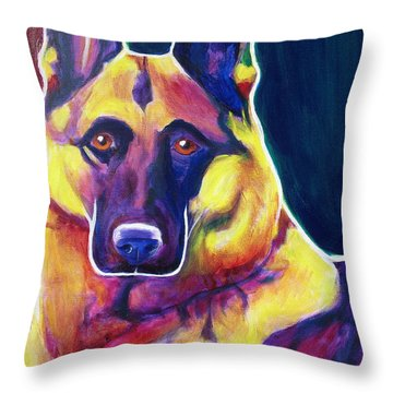 German Shepherd - Burner Throw Pillow by Alicia VanNoy Call