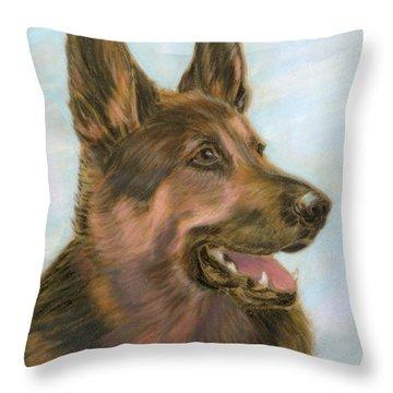 German Shepherd Dog 2 Throw Pillow