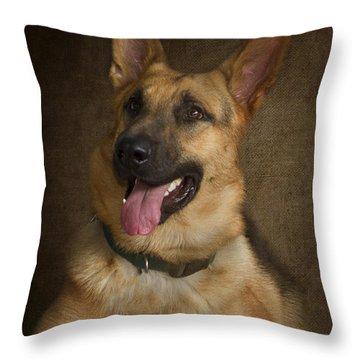 German Shepherd Portrait Throw Pillow