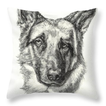 German Shepherd Sketch No.1 Throw Pillow