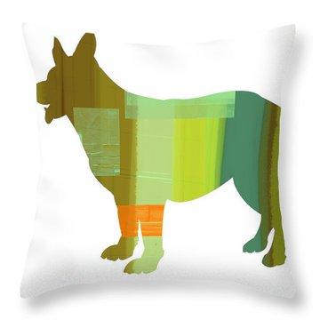 German Sheppard 1 Throw Pillow by Naxart Studio